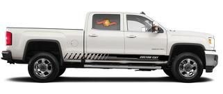 Racing rocker panel stripes vinyl decals stickers for GMC Sierra 2500HD