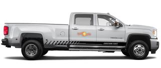 Racing rocker panel stripes vinyl decals stickers for GMC Sierra 3500HD