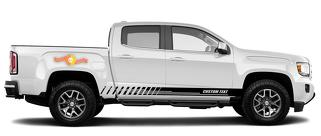 Racing rocker panel stripes vinyl decals stickers for GMC Canyon