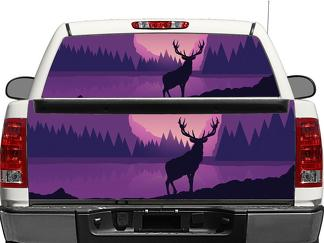 Deer Moose Graphics Rear Window OR tailgate Decal Sticker Pick-up Truck SUV Car