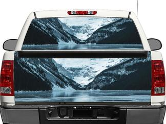 Snow Mountains ice Rear Window OR tailgate Decal Sticker Pick-up Truck SUV Car