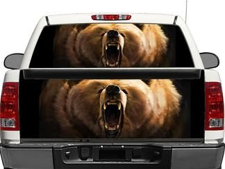 Grizzly Bear Rear Window OR tailgate Decal Sticker Pick-up Truck SUV Car
