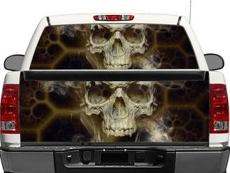 Skull Death Rear Window OR tailgate Decal Sticker Pick-up Truck SUV Car