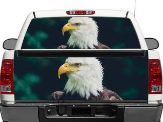 American Bald Eagle Rear Window OR tailgate Decal Sticker Pick-up Truck SUV Car