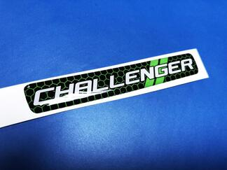 Steering Wheel Lime Honeycomb Challenger emblem domed decal