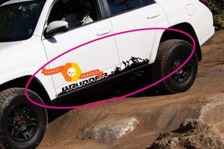 Pair of Mountains 4Runner Side Rocker Panel Vinyl Decals Stickers for Toyota 4Runner TRD