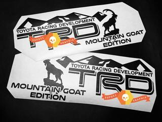 Pair of TRD Mountains Goat Edition Side Vinyl Decals Stickers for Toyota 4Runner Tundra Tacoma FJ Cruiser