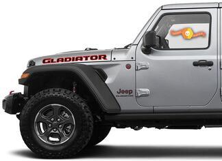 Two Colors Hood Sticker voor Jeep Gladiator 2019 2020 2021 voor beide kanten