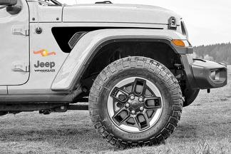 Paar Jeep Gladiator Side JT Wrangler JL JLU Gravity Style Extended Fender Vent Blackout Vinyl Decal Sticker Graphics Kit voor 2018-2021 voor beide kanten