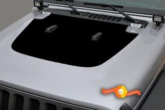 Jeep Gladiator Seite JT Wrangler JL JLU Motorhaube Solid Style Vinyl Aufkleber Aufkleber Grafikkit für 2018-2021 für beide Seiten