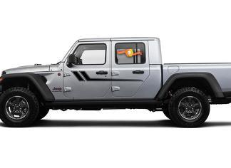 Jeep Gladiator Seite JT Wrangler JL JLU Türen Streifen Stil Vinyl Aufkleber Aufkleber Grafik-Kit für 2018-2021