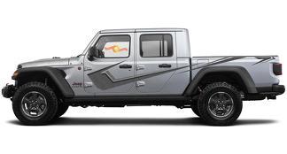 Jeep Gladiator Side JT Wrangler JL JLU DOT Structuur Deuren Strepen Stijl Vinyl Decal Sticker Graphics Kit voor 2018-2021
