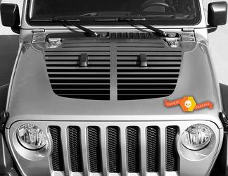Jeep Gladiator JT Wrangler Lines Split JL Jlu Hood Stijl Vinyl Decal Sticker Graphics Kit voor 2018-2021
