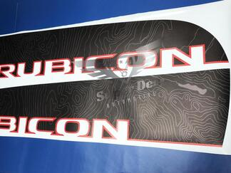 Pair of Topographic Map Jeep WRANGLER JK UNLIMITED RUBICON RECON Decal Sticker