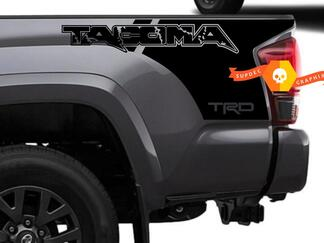 Pair of TRD Tacoma in Raptor style Bed Side Vinyl Decals Kit Stickers for Tacoma 16-20