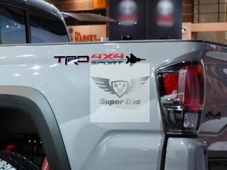 Paar TRD Off Road Vintage Sonnenuntergang Stil 4x4 PRO Sport Off Road Side Vinyl Aufkleber Aufkleber Toyota Tacoma Tundra FJ Cruiser