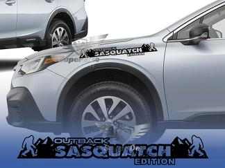 Sasquatch Mountains hood Decals for Subaru Outback hood Stickers