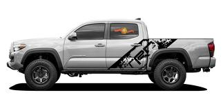 TRD grunge distressed splash style for Toyota Tacoma 16-20