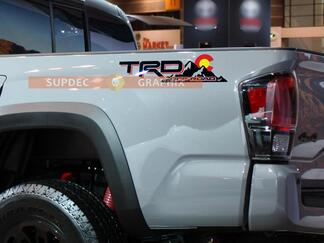 Pair of TRD Off Road Mountains with Colorado State Flag SunSet Shadows Sun Sunset for Toyota Tacoma Tundra FJ Cruiser