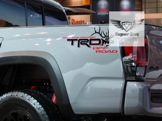 Pair of Big Bull Elk TRD Off Road Racing Development bedside Truck decals stickers fit to Tacoma Tundra FJ Cruiser