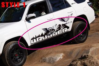 Side Mountains Trees travel Vinyl Sticker Decal fit to Toyota TRD PRO 4Runner