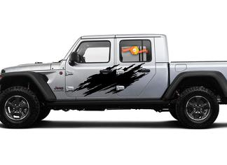Jeep Gladiator SideExtra Grote Side Splash Unieke stijl Vinyl Decal Sticker Graphics Kit voor JT 2018-2021