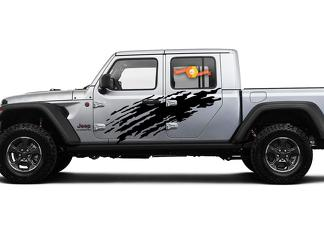 Jeep Gladiator Side Extra Large Side Splash unique Big Style Vinyl decal sticker Graphics kit for JT 2018-2021