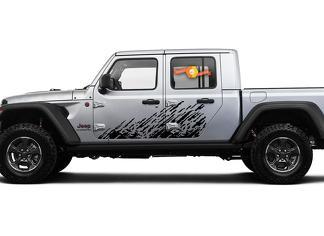 Jeep Gladiator Side Extra grote Side Splash Unieke Big Two Style Sporen van Dirt Vinyl Decal Sticker Graphics Kit voor JT 2018-2021