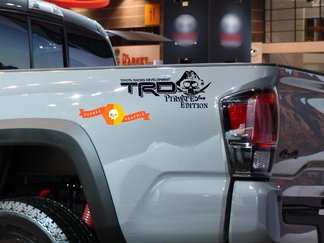 Pair of TRD Pirate Edition Toyota Racing Development bed side Truck decals stickers Tacoma Tundra FJ Cruiser