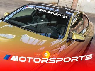M Motorsports decal Windshield sticker
