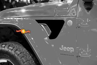 Paar Jeep Wrangler 2018 JL Jlu Voor Fender Vent Accent 2PC Vinyl Decal Grafische Kit voor 2018-2021 voor beide kanten