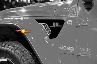 Paar Jeep Wrangler 2018 JL Jlu Jeep Fender Vent Accent 2PC Vinyl Decal Grafische Kit voor 2018-2021 voor beide kanten
