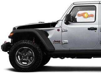 Paar Jeep Wrangler Gladiator JT JL JLU Rubikonhaube Speer Vinyl Aufkleber Grafikkit für 2018-2021 für beide Seiten