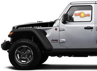 Paar Jeep Wrangler Gladiator JT JL JLU Rubikonhaube Benutzerdefinierter Text Speer Vinyl Aufkleber Grafikkit für 2018-2021 für beide Seiten