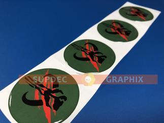 4 Rad Mittelkappen Mandalorian Boba Fett Domed Abzeichen Emblem Harz Aufkleber Aufkleber