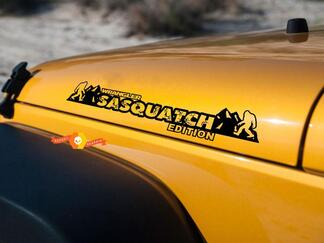 Sasquatch Mountains hood Decals for Jeep Wrangler Jl JK TJ YJ hoods
