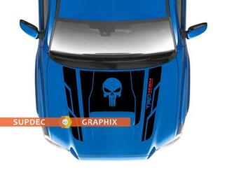 Punisher TRD 4x4 PRO Sport Off Road Hood Vinyl Stickers Decal fit to Tacoma 16-20 (4Runner by request)