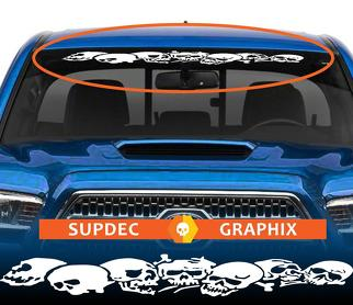 Skull Window Windshield Banner Decal Sticker from SupDec Graphix