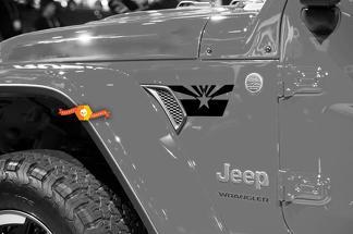 Paar Jeep Wrangler 2018 Jlu Jeep Fender Vlag van Arizona Vent Accent 2PC Vinyl Decal Grafische Kit voor 2018-2021 voor beide zijden