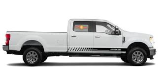 Racing rocker panel stripes vinyl decals stickers for Ford F-250 2020