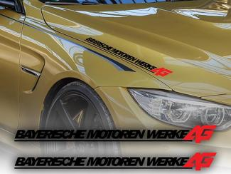Full name Bayerische Motoren Werke AG Hood decal sticker BMW