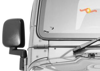 Jeep Windschutzscheibe Ostermond Sterne Ei Begleiter Vinyl Aufkleber