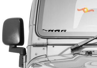 Jeep Windschutzscheibe Jeep Caravan Convoy Vinyl Aufkleber