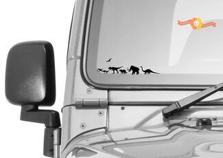 Jurassic World Dinosaur Windschutzscheibe Jeep Corner Chaser Decal