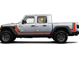 2020 & Up Jeep Gladiator Scrambler Style 1 Side Stripes 2 Colors