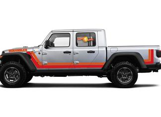 2020 & Up Jeep Gladiator Scrambler Style 2 Side Stripes 2 Colors