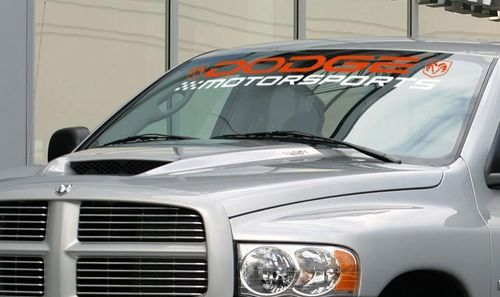 DODGE MOTORSPORTS RAM 3500 1500 2500 SRT Windshield decal