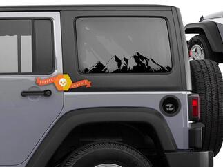 Jeep Wrangler Mountain Range Vinyl grafische sticker voor jeep Wrangler Vinyl Decal 2007-2019