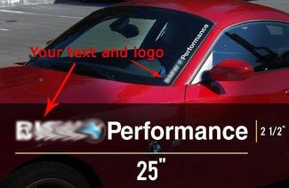 Your text and logo BMW Performance M3 M5 E34 E36 E39 E46 E60 E70 E90 Windshield Decal sticker logo 25
