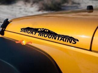 Smoky Mountains Nieuwe Bergen Raamstickers voor Hood Jeep Wrangler Rubicon Renegade Vinyl Sticker